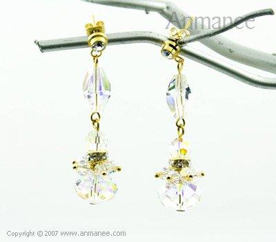 Handcrafted Swarovski Crystal Earrings 010311