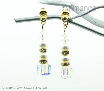 Handcrafted Swarovski Crystal Earrings 01039