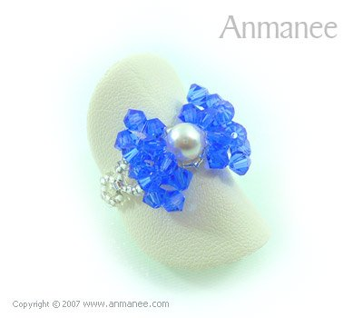 Handcrafted Swarovski Crystal - Ring Bow 010417