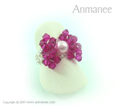 Handcrafted Swarovski Crystal - Ring Bow 010419