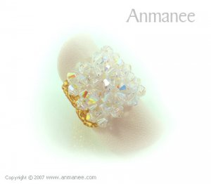 Handcrafted Swarovski Crystal Ring - Square 010474