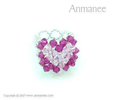 Handcrafted Swarovski Crystal Ring - Square 010475
