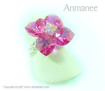 Handcrafted Swarovski Crystal Ring - Pikul 010450
