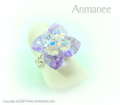 Handcrafted Swarovski Crystal Ring - Pikul 010460