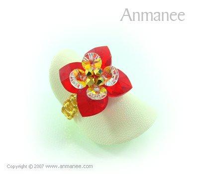 Handcrafted Swarovski Crystal Ring - Pikul 010451