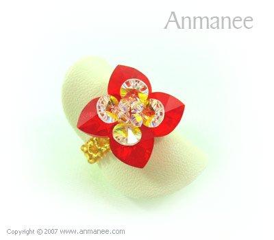 Handcrafted Swarovski Crystal Ring - Pikul 010452