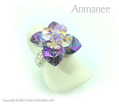 Handcrafted Swarovski Crystal Ring - Pikul 010453