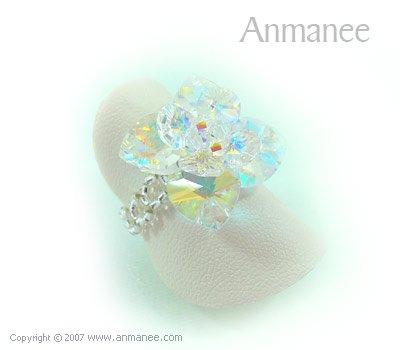 Handcrafted Swarovski Crystal Ring - Pikul 010454