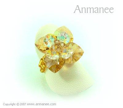 Handcrafted Swarovski Crystal Ring - Pikul 010456