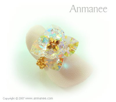Handcrafted Swarovski Crystal Ring - Pikul 010457