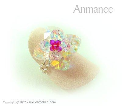 Handcrafted Swarovski Crystal Ring - Pikul 010461