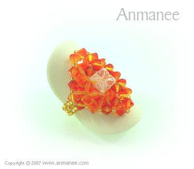 Handcrafted Swarovski Crystal Ring - Diamond 010435