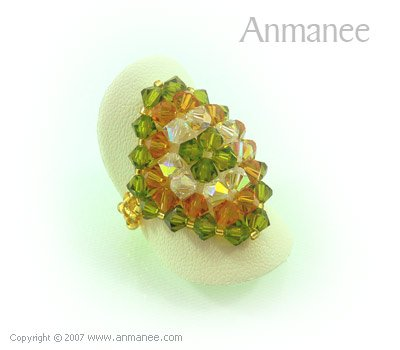 Handcrafted Swarovski Crystal Ring - Diamond 010437