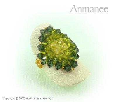Handcrafted Swarovski Crystal Ring - Diamond 010440
