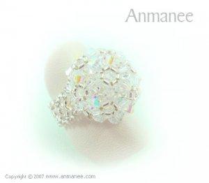 Handcrafted Swarovski Crystal Ring - High Grace 010446