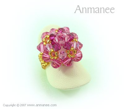 Handcrafted Swarovski Crystal Ring - High Grace 010447