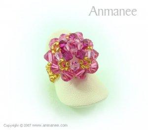Handcrafted Swarovski Crystal Ring - High Grace 010447