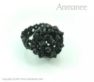 Handcrafted Swarovski Crystal Ring - High Grace 010448