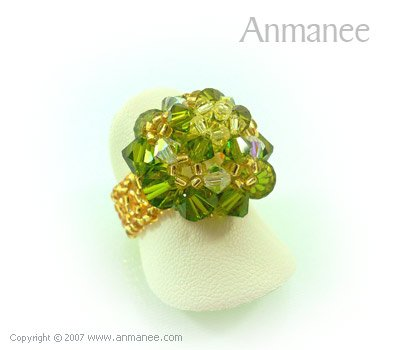 Handcrafted Swarovski Crystal Ring - High Grace 010449