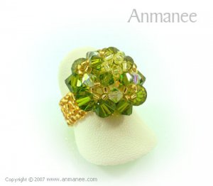 Handcrafted Swarovski Crystal Ring - High Grace 010449