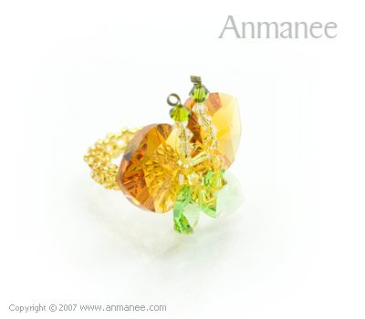 Swarovski Crystal Ring Butterfly 010423