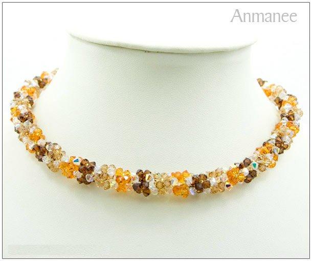 Handcrafted Swarovski Crystal Necklace - Twist-L 01012