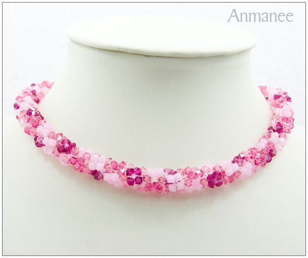Handcrafted Swarovski Crystal Necklace - Twist-L 01014