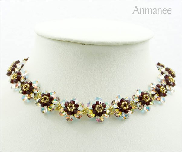 Handcrafted Swarovski Crystal Necklace Mouse Full 01018