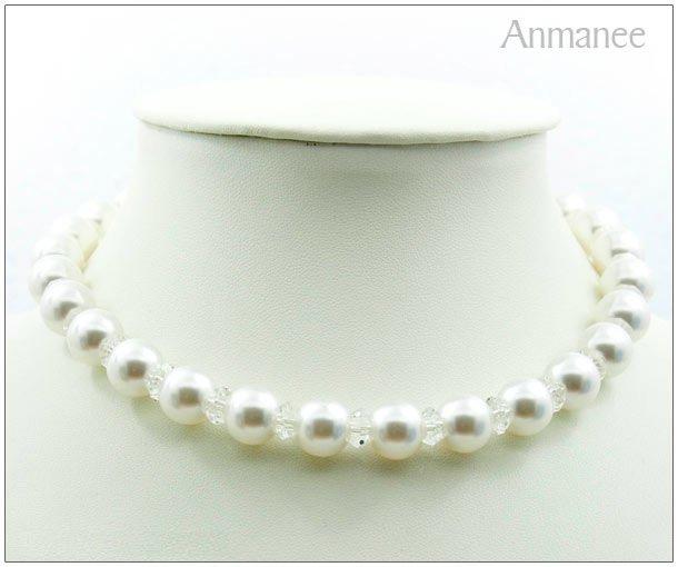 Handcrafted Swarovski Pearl Necklace 02011