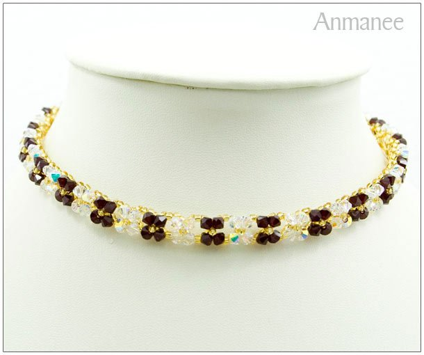 Handcrafted Swarovski Crystal Necklace Pikul-Single 010133