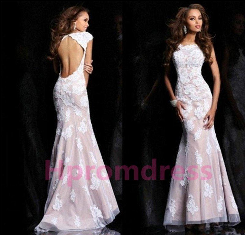 2014 lace Leak back prom dress, formal cocktail dress, evening dres,weddings