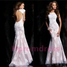 2014 lace Leak back prom dress, formal cocktail dress, evening dres,weddings