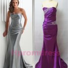 2014 New sexy strapless long prom dress, formal cocktail dress, long evening dres,