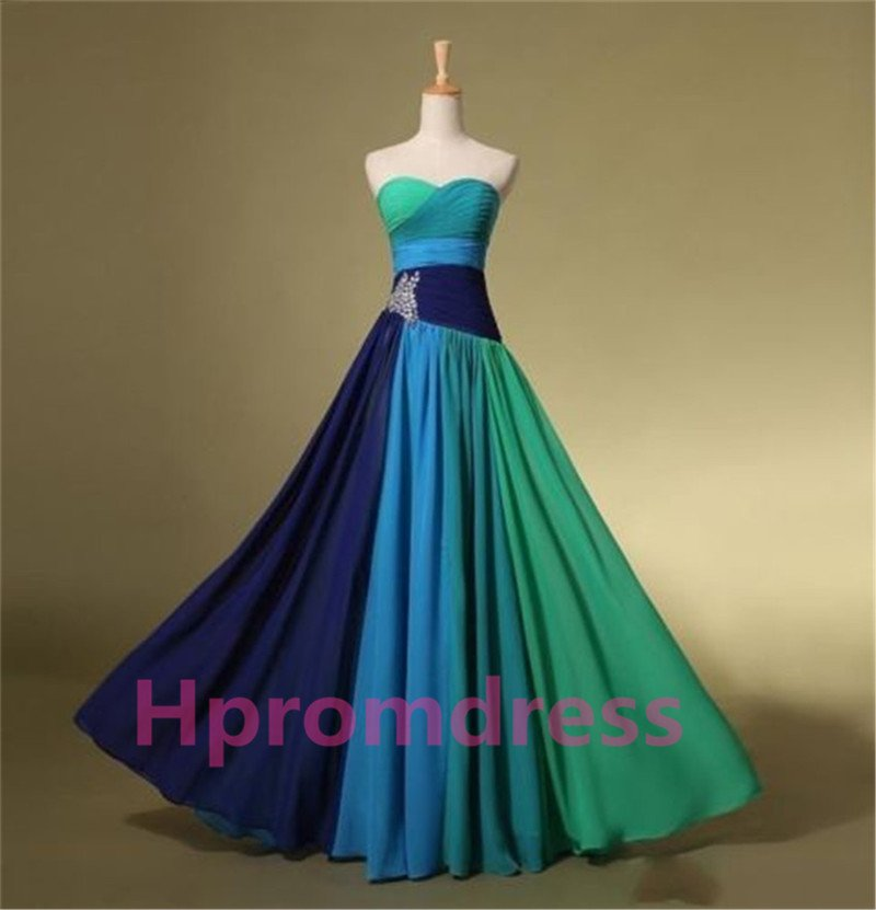 2014   beads long prom dress, formal cocktail dress, evening dress