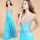 2014 beads strapless formal cocktail dress chiffon prom dress bridesmaid dress