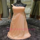 2015 New elegant one-shoulder chiffon evening dress long proms cocktail dresses