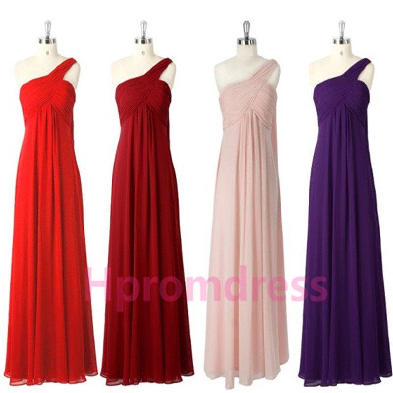 2015 New one-shoulder bridesmaid dress long  proms cocktail dresses