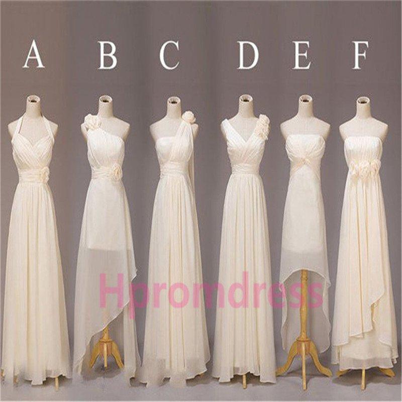 New chiffon bridesmaid dress formal evening dresses long prom dress