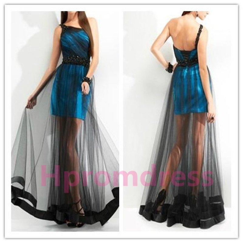 2015 New Sexy transparent black gauze dress performance dress