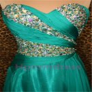 2015 New classic beads strapless fromal prom dress plus size evening dress