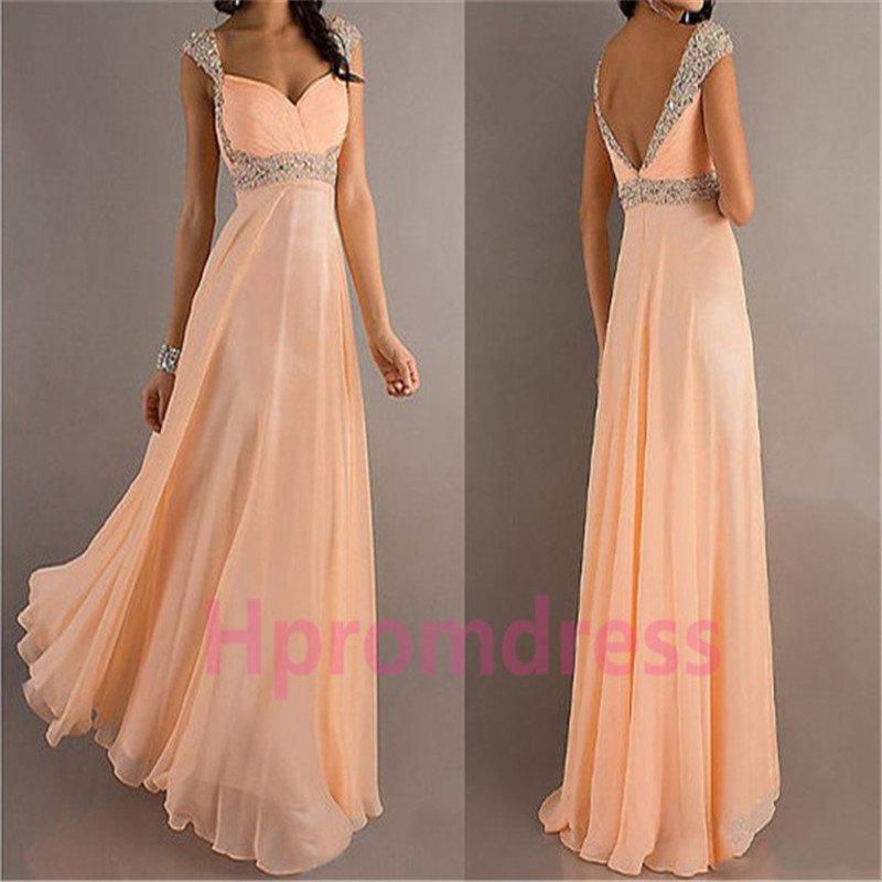 New Hot V-neck beads bridesmaid dress custom size color long evening dress