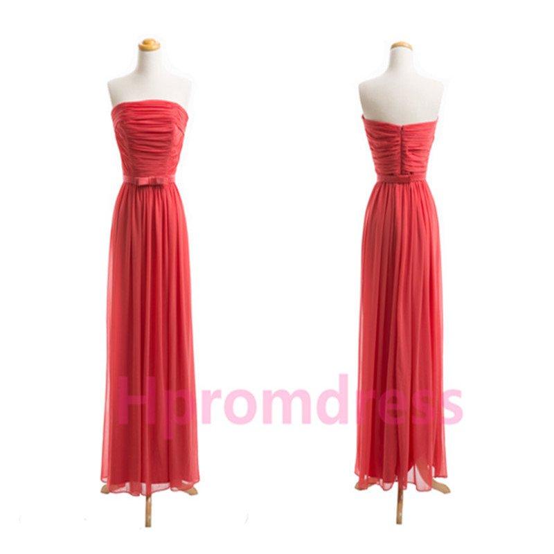 2015 New red chiffon PROM dress custom size color bridesmaid dresses
