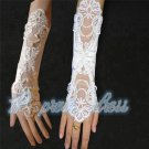 Bridal gloves wedding gloves gloves double lace dress long champagne