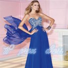 2015 New Sexy Backless Sleeveless Beads Long Floor Length Chiffon Gowns Dress Prom Dresses