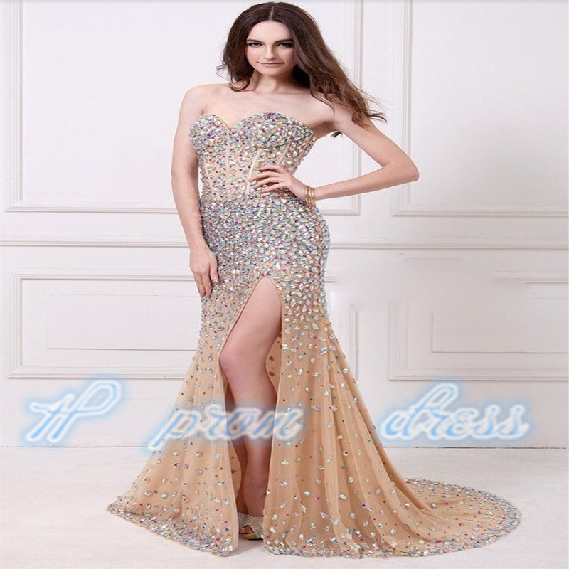 Court Train Floor Length Gown Beaded Sweetheart Neck Backless Stunning Long Prom Dress