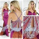 Glamor and Shine Beading Backless Spaghetti Strap Sexy Long Prom Dress