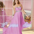 2015 New Sexy Backless Sleeveless Elegant Pink Color Prom Sweetheart Floor Length Gowns Dress