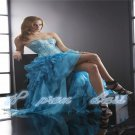 New Sexy Sweetheart Evening Dresses Fashion Beaded Organza Formal Prom Gown