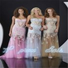 New Evening Dresses Applique Tulle Party Formal Prom Gown Size 2 4 6 8 10 12++++