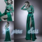 2015 New Sexy Style Custom Long Sleeve Evening Gowns Formal Lace Prom Dresses
